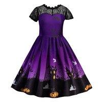 Одежда принцессы на Хэллоуин для девочек от 3 до 8 лет, Vestidos, вечерние платья для маленьких девочек кружевные рождественские платья для костю...