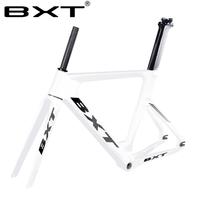 Новая бесплатная доставка BXT полная трековая карбоновая рама дорожные рамы фиксированная Шестерня велосипедная рама вилка сиденье карбоно...