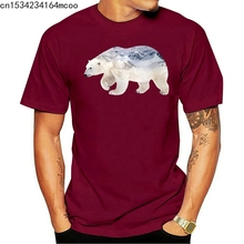 Натуральный из Полар-флиса футболка с медведем России для мужчин футболка зверь дикой природы футболка для Мужские Молодежные комплект оде...