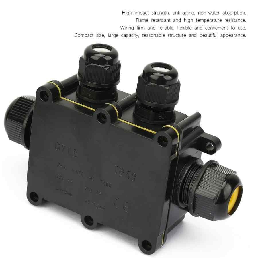 IP68 2/3/4 Way wodoodporna skrzynka przyłączowa obudowa elektryczna kabel listwa zaciskowa blok plastikowe skrzynka przyłączeniowa