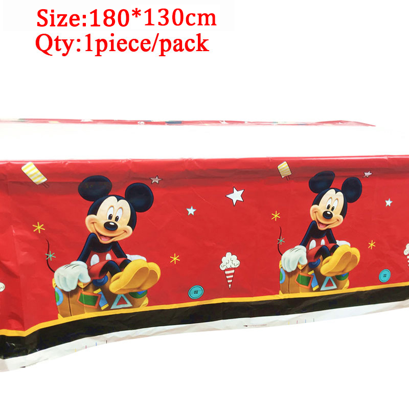Disney Cars tablecloths kids birthday party decoration supplies mickey table cloth Mickey theme baby shower party table cloth