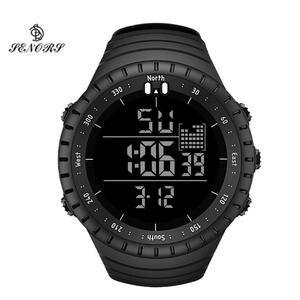 Часы наручные Senors Мужские Цифровые, спортивные водонепроницаемые светодиодсветодиодный электронные в стиле милитари, с будильником