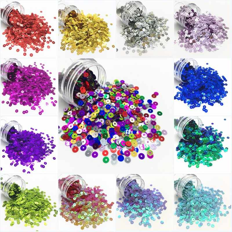 10G Seuqin 3/4/5/6 Mm Platte Ronde Pvc Losse Pailletten Pailetten Wedding Craft Diy housewear Meubels Naaien Lentejuelas