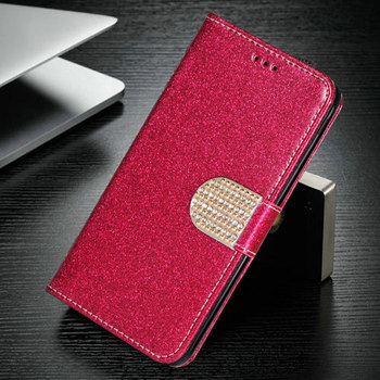 For Alcatel 3X 2019 5048 3X 2020 5061 4 Camera 5058Y 5058i Fashion Bling Glitter Leather Case Classical Flip Wallet Cover Bag image