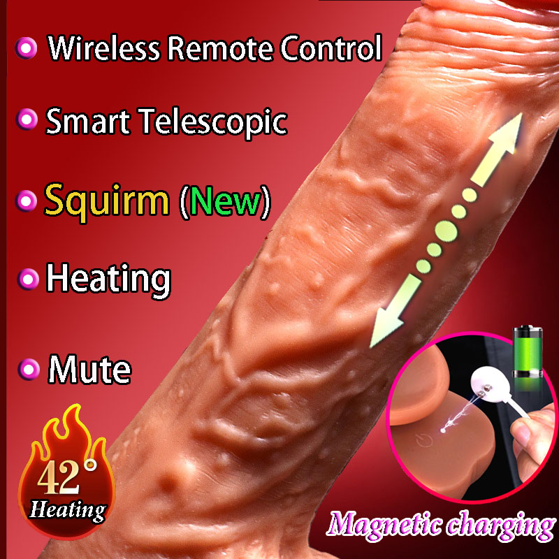 CPWD Smart Heating Automatic Telescopic Dildo Real Dick Sex Product For Women Soft Dildo Vibrator Realistic Huge Penis Sex Toys