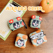 Luxury Cartoon cute fruit Silicone Case for Airpods 2 1 pro Sports Earphone Case Cover for Air Pods Earbud Case Protection 3d lucky rat cartoon bluetooth earphone case for airpods pro cute accessories protective cover for apple air pods 3 silicone