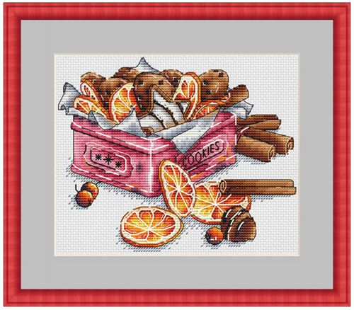 Counted Cross Stitch Kit Fan blowing a fan Handmade Needlework For Embroidery 14ct Cross Stitch Lemon Cookie Tin(China)