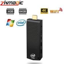 Мини-ПК T6, intel, безвентиляторный, 4 ГБ, 64 ГБ, 32 ГБ, eMMC, мини-ПК, Windows 10, лицензированный, Intel Atom x5-Z8350, BT 4,0, WiFi, ПК, мини-палка W5