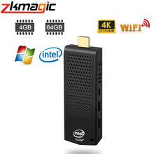 Vara sem fanless 4 gb 64 gb 32 gb emmc mini pc windows 10 licenciado intel atom x5-Z8350 bt 4.0 wifi pc mini vara w5(China)
