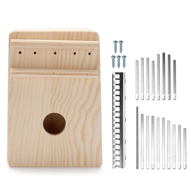 17 Keys Kalimba Thumb Piano Simple Assembly Handwork DIY Kit Wood Fingers 10 Keys Thumb Piano