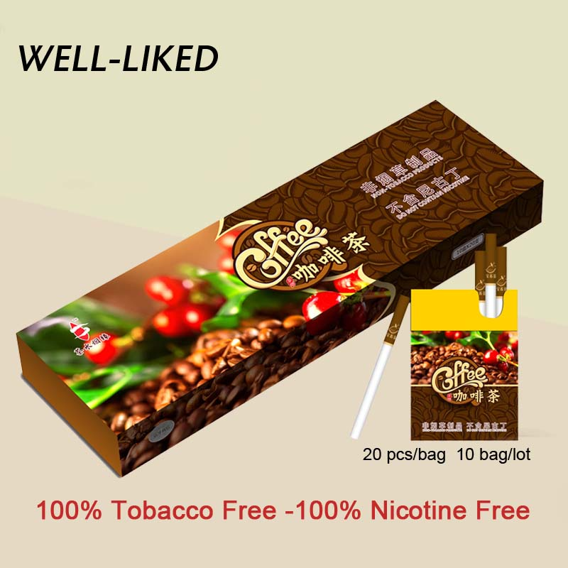 2020 NEW Coffee Flavor Tea Herbal Fine Cigarettes No Nicotine & Tobacco Cigarettes Clear Lung Wholesale Gifts For Men
