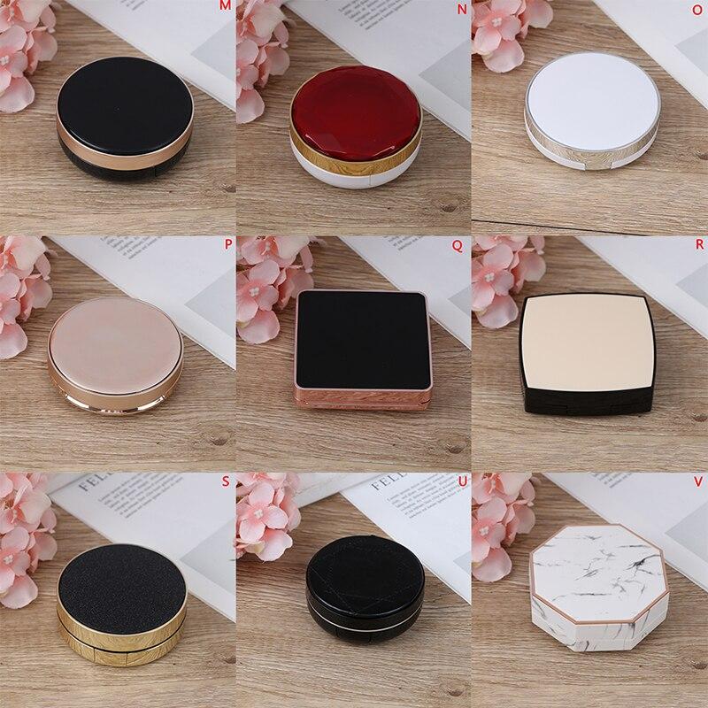 Hot 1set Empty Air Cushion Puff Box CC Cream Container Dressing Case Sponge Mirror Mutli-type To Choose