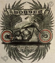 T-Shirt Bobber Biker HOT ROD V8 Pin Up KUSTOM VINTAGE RETRO USA Route66 USA 277(China)