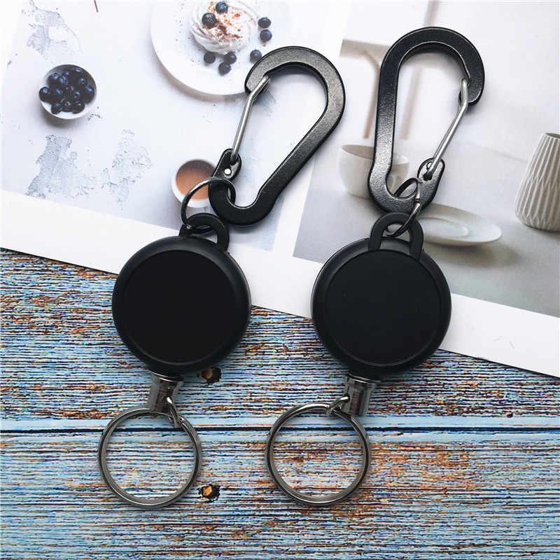 Pince de ceinture en acier rétractable avec anneau porte-badge rétractable