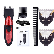 Hair-Trimmer Barber Electric-Clipper Beard Professional Rechargeable Waterproof Men