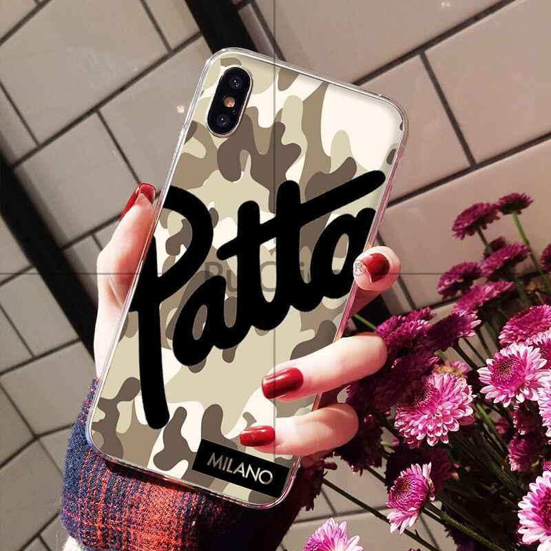Ruicaica Heißer Dutch street fashion marke patta TPU Telefon Abdeckung für Apple iPhone 8 7 6 6S Plus X XS MAX 5 5S SE XR Mobile Abdeckung