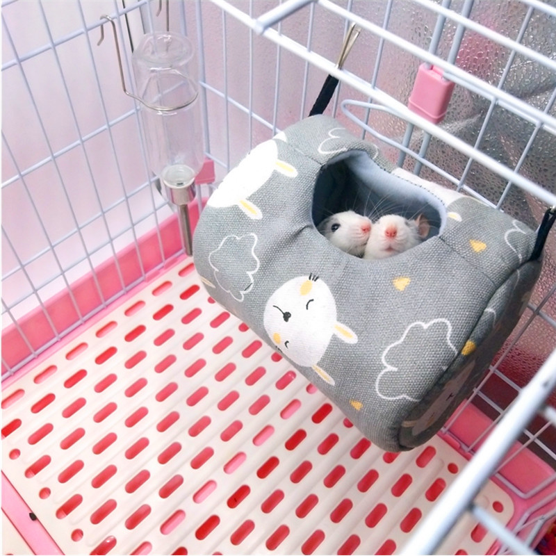 New Hamster Cages Life Nest Spring Little Pet Canvas Hammock Hedgehog Chinchilla Guinea Pig Hanging House Small Animal Products