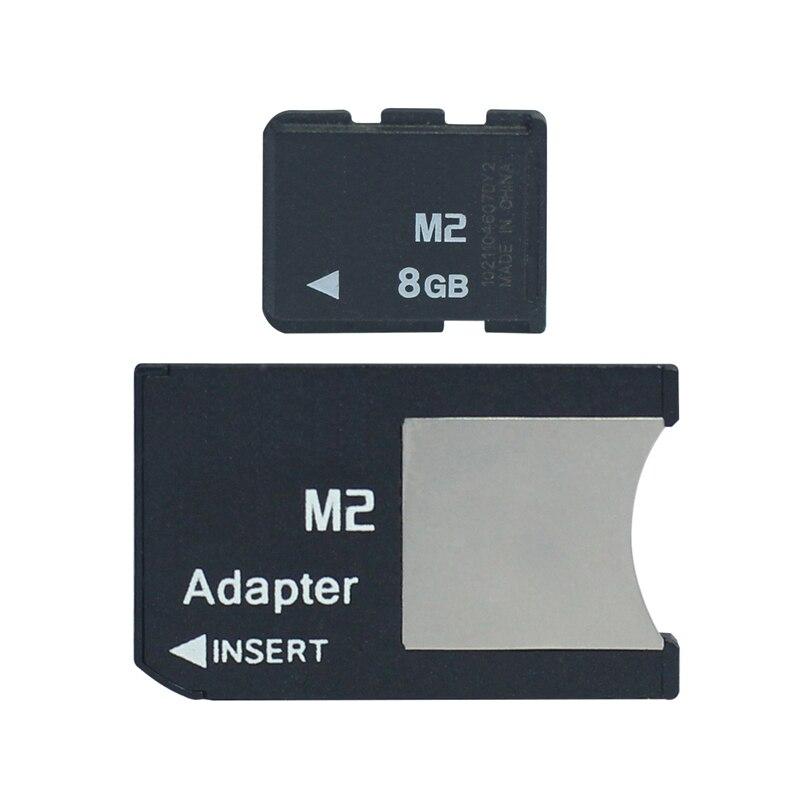 M2 com vara da memória do adaptador micro na vara da memória pro duo 512 mb 1 gb 2 gb 4 gb 8 gb ms pro duo