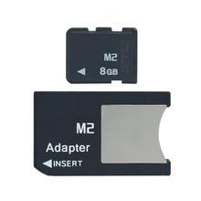 M2 com adaptador de memória stick micro em memory stick pro duo 512mb 1gb 2gb 4gb 8gb ms pro duo