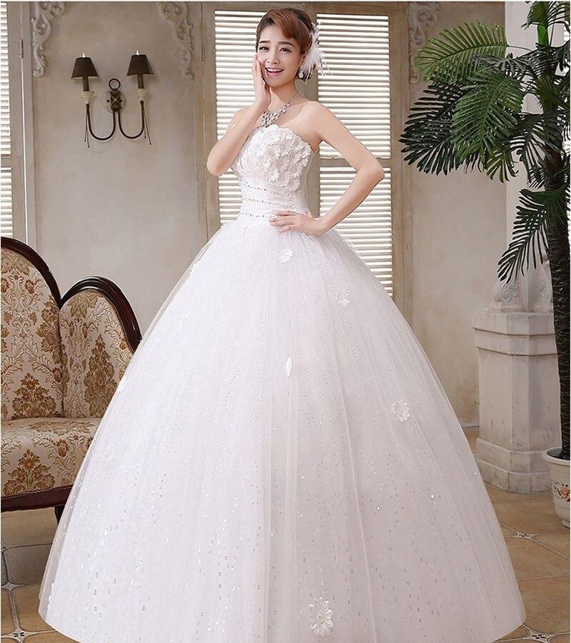 YULUOSHA Sexy Wedding Dresses Sleeveless Lace Appliques Strapless Backless Luxury Wedding Dress Elegant Vestido De Noiva