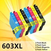 Für Epson 603XL kompatibel für Expression Startseite XP 3100 XP 4100 XP 2100 XP 2105 XP 3105 XP 4105 Drucker t603xl tinte patronen-in Tintenpatronen aus Computer und Büro bei