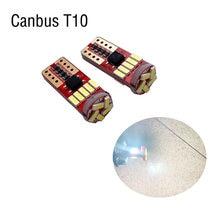 2pcs T10 led canbus T10 15led 4014 smd LED No OBC Error 194 168 W5W T10 15smd canbus non polarity LED Wedge bulb car-styling