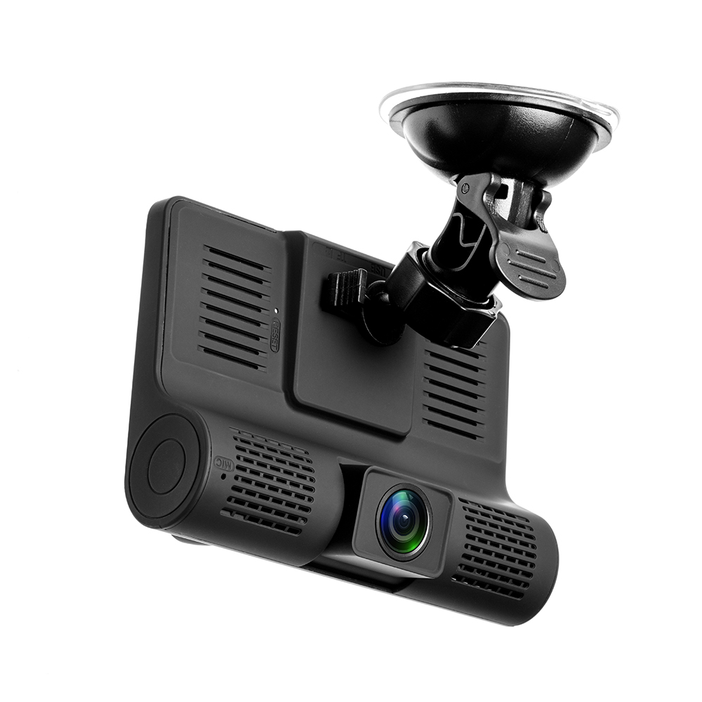 Image 3 - AMPrime 4'' Three Way Car DVR FHD Three Lens Video Recorder Camera 170 Wide Angle Dash Cam G Sensor And Night vision Camcorder-in DVR/Dash Camera from Automobiles & Motorcycles