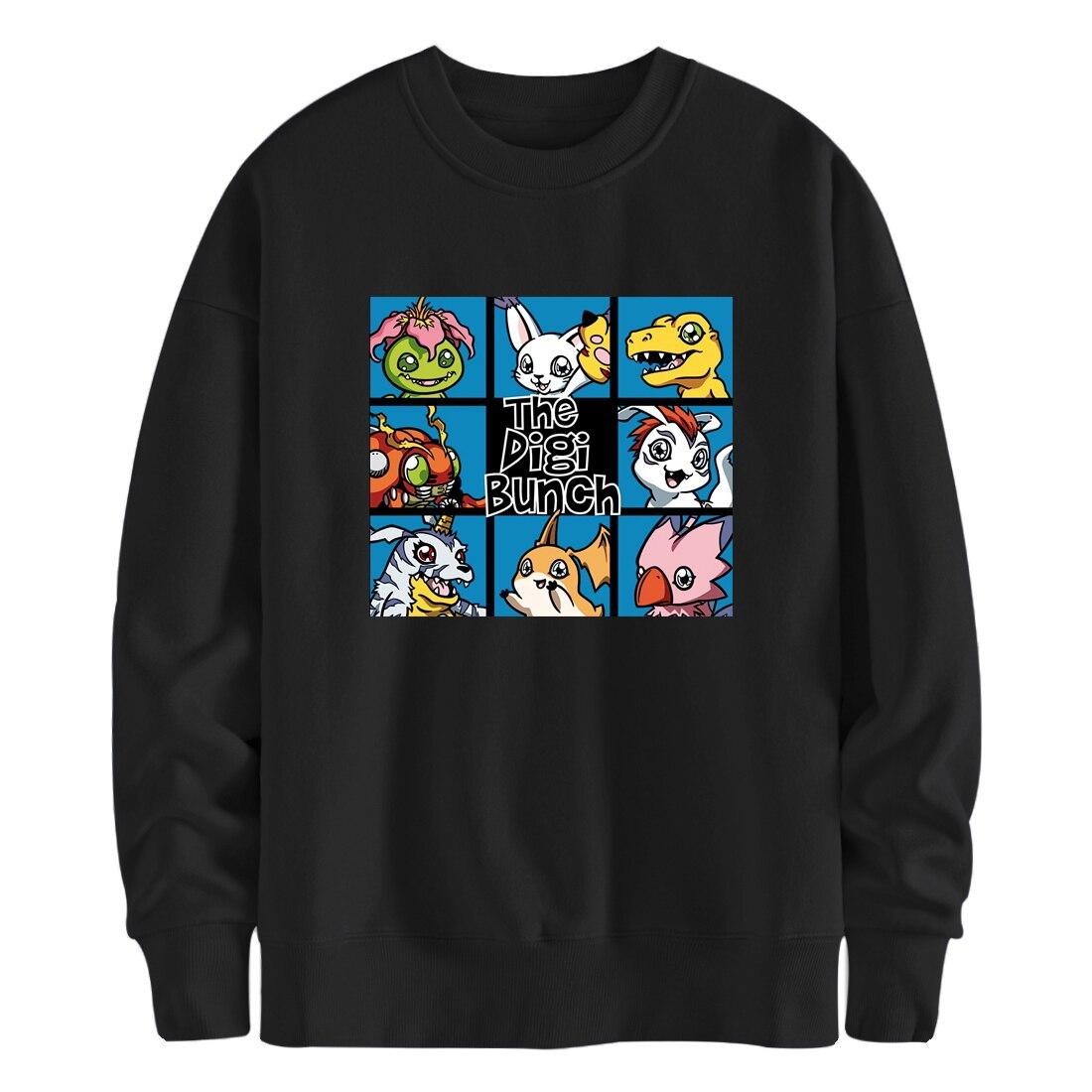 Harajuku Fleece Digimon Hoodies Japan Anime Sweatshirts Men Brand Clothing Streetwear Harajuku Pullovers Moletom Masculino 2021