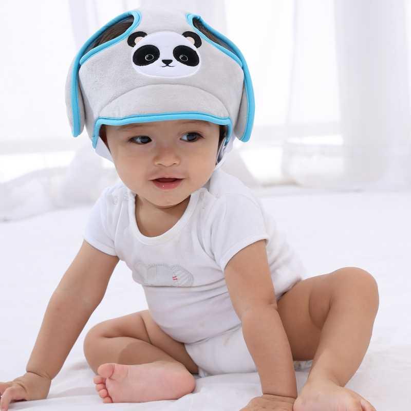 Niño gota accidente gorra infantil sombrero niños romper-seguridad suave cascos bebé sombrero de protección de la cabeza del bebé sombrero