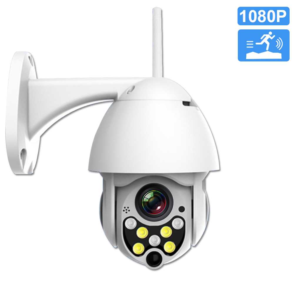 Wifi IP Camera Outdoor 1080P 2MP Wireless PTZ Speed Dome Home Security Camera Pan Tilt 4X Digital Zoom CCTV Surveillance Camera