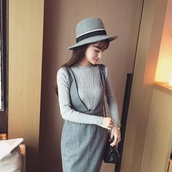 2019 Autumn New Korean Solid Color Joker Crew Neck Slim Fit PulloverThread Knit Basic Women Sweater 3