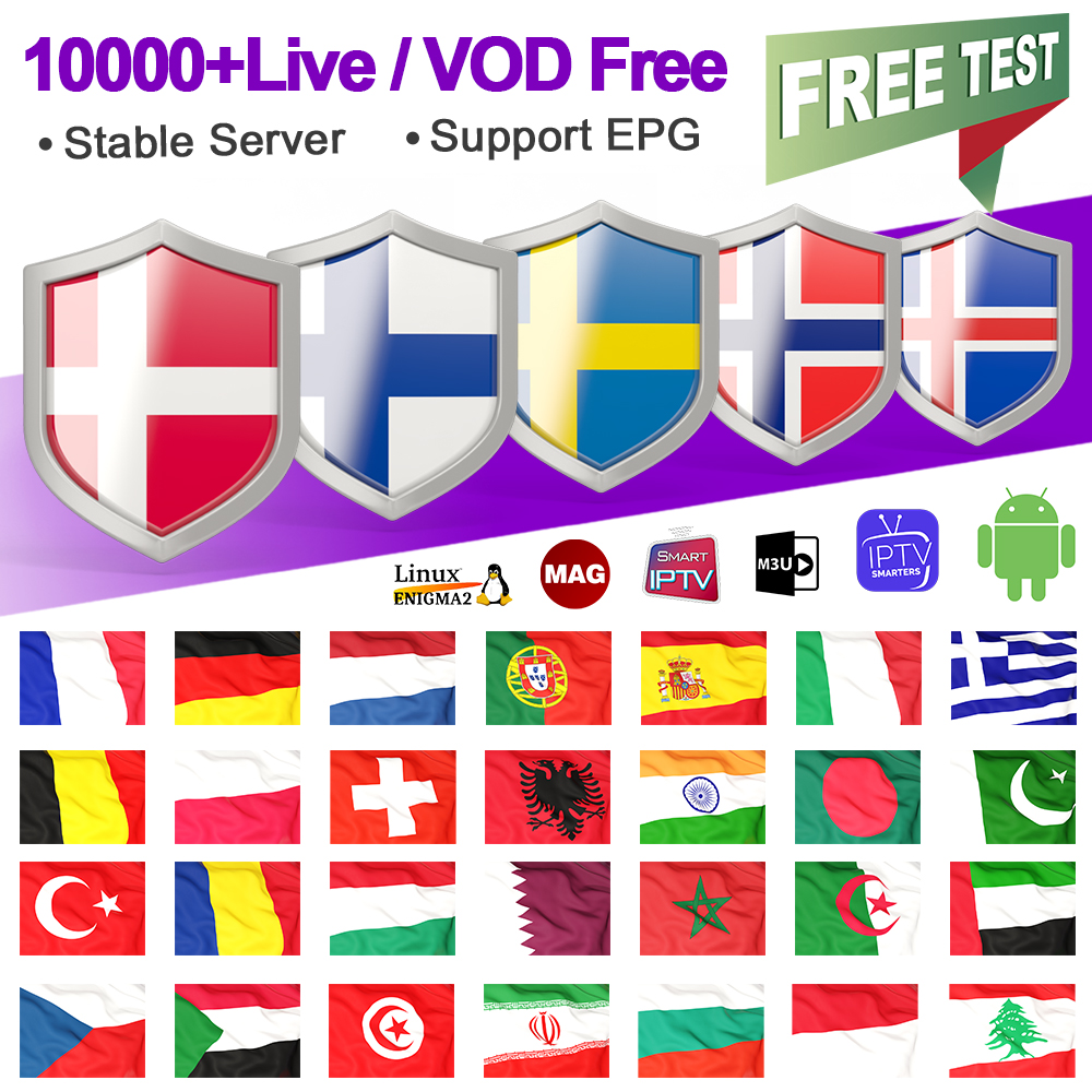 IPTV France Germany Arabic Belgium Spain IPTV Subscription M3U Android Code IPTV Netherlands Italy Portugal Sweden Greek IP TV