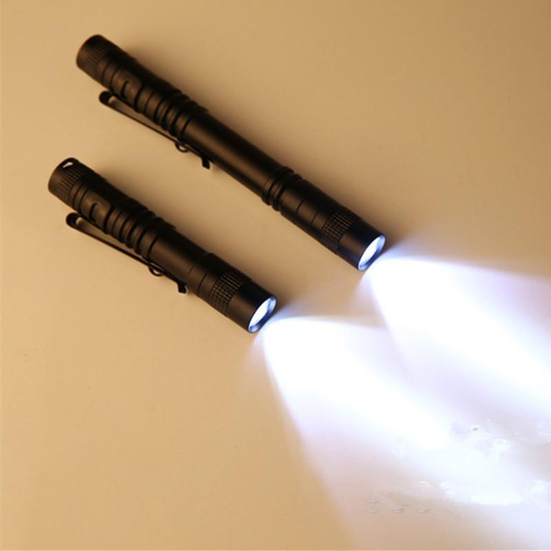 XPE Clip Mini LED Flashlight Torch Waterproof Handheld Penlight Lamp Powered By AAA Batteries(Not Included)