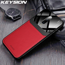 KEYSION Leather Case for OnePlus 7 7 Pro Mirror Glass Silicone Shockproof Phone Back Cover For Oneplus 6 6T 1+7 One plus 7 7 Pro
