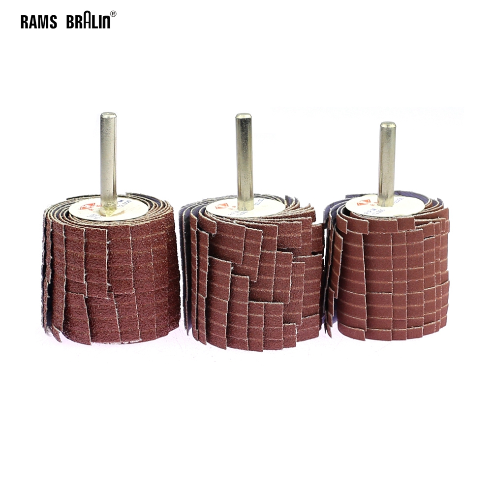 1 Pieces 35*50*6mm Mounted Abrasive Sanding Cloth Wire Striping Grinding Wheel For Curved Surface Wood Carving Polishing