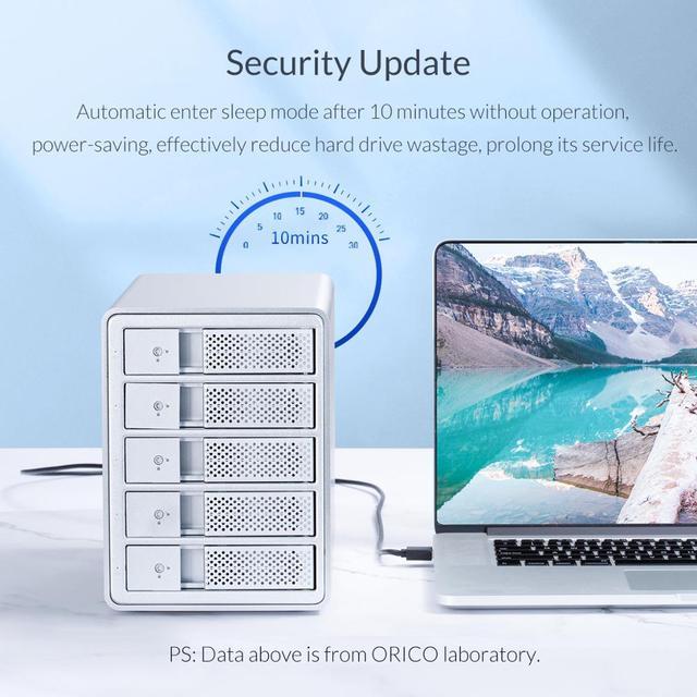 ORICO 95 Series 4 Bay 3.5'' USB3.0 HDD Docking Station With Raid Aluminum Support 64TB UASP With 150W Internal Power Adaper