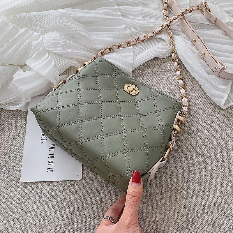 Diamond-shaped Classic Practical Women Bag Shoulder Metal Train Minority Joker Bag Summer Light Mature Women Luis Vuiton Gg Bag