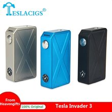 Original 240W Tesla Invader 3 Box Mod 510 Thread for RTA/RDA/RDTA e cig No 18650 Battery MOD vs Tesla Nano/ Tesla WYE/ Drag 2(China)