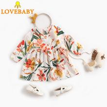 Toddler Kids Baby Girls Print Dress Long Sleeve Knee-Length Christmas 6-48M Vestido Fantasia Infantil Princess Dresses
