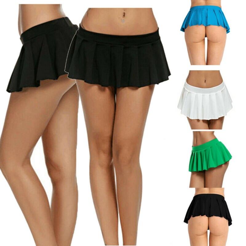 Fashion Women Skirts 2020 Solid Tennis High Waist Plain Skater Flare Pleated Short Mini Hot Skirts