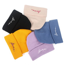 Winter Letters Embroidered Knit Beanies Cap Men Womens Beanie Hats Hip Hop