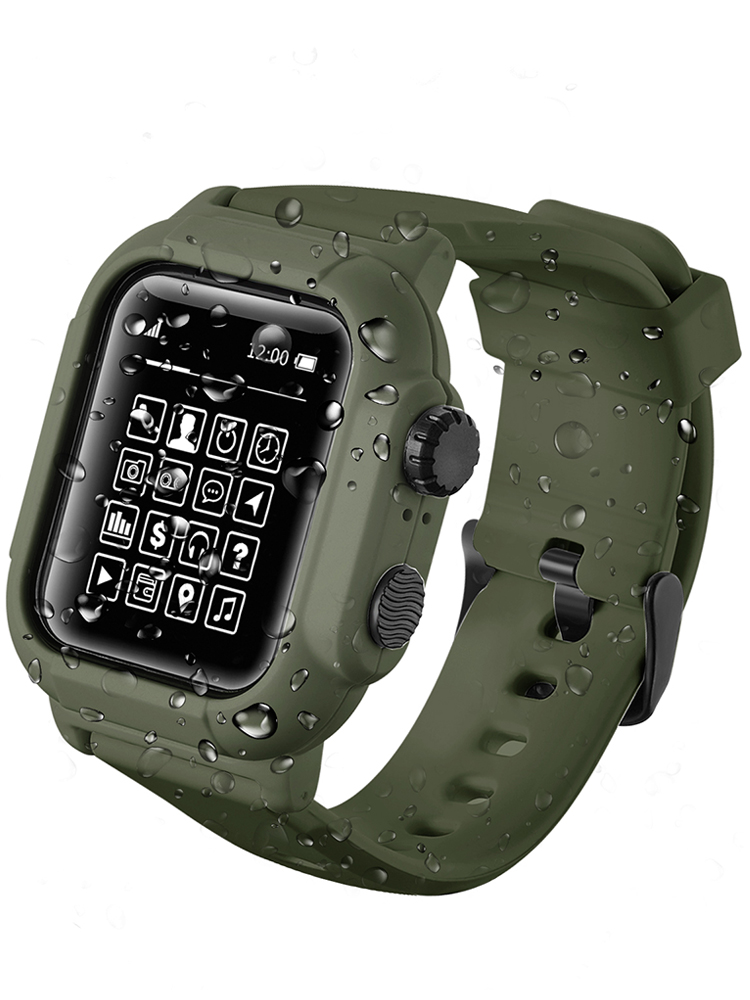 Cover Case Watch-Series Sport-Band Silicone 42mm Waterproof 44mm 42-Mm-Accessories IP68