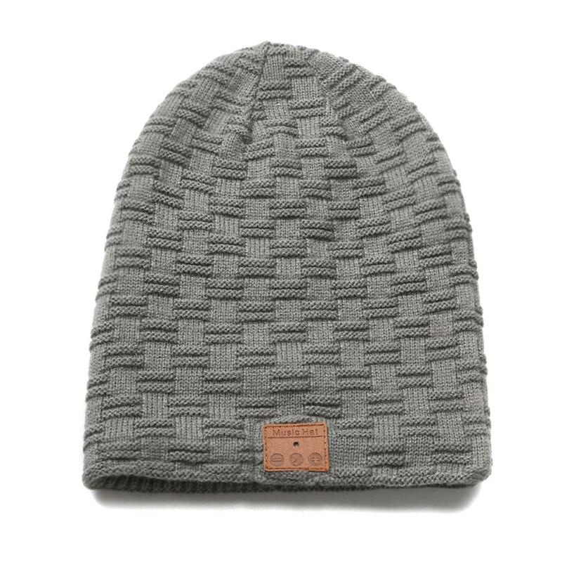 Bluetooth Headset Knit Beanie Hat Wireless Music Hands-free Call Smart Fleece Lined Warm Cap HB88