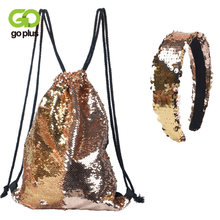 Женский рюкзак goplus с украшением в виде головы спортивная