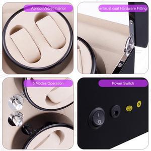 Image 4 - FRUCASE Schwarz hohe fertig Automatische Uhr Wickler uhr schmuck schrank display box kollektor speicher Stille in bett zimmer