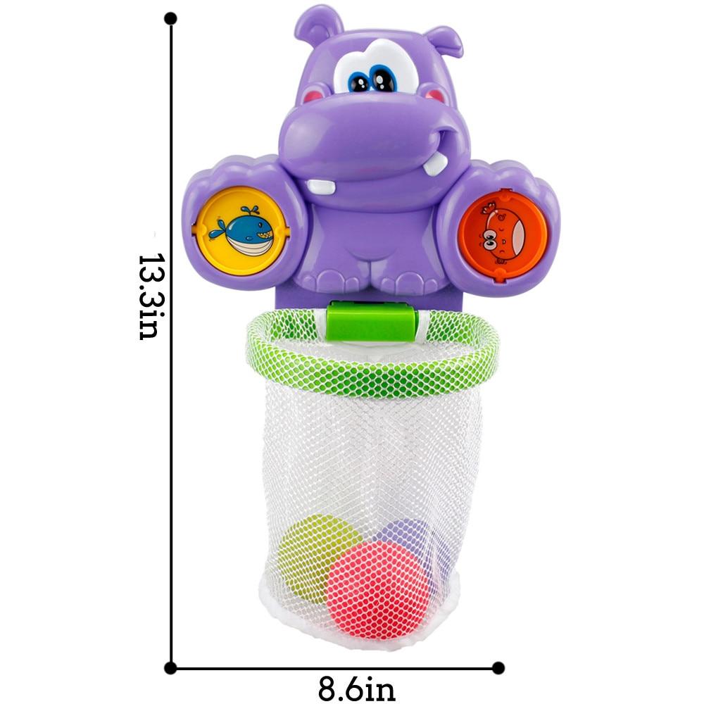 Kids Basketball Hoop Bathtub Water Play Set for Baby Educational Mini Gift Foam Beach Swimming Pool Toddler Shower Bath Toys