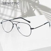 ZENOTTIC ультра светильник, оптические очки, оправа для мужчин, полная оправа, очки пилота по рецепту, модные дизайнерские очки, очки BT2112