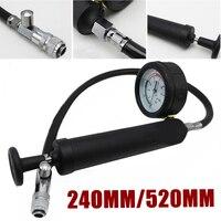 1Pc Water Tank Leak Detector Shockproof Dial Car Pressure Gauge Tester Cooling System Tester Radiator Pressure Pump