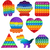 Rainbow Fidget Toys Push Bubble Sensory  For Autism Needs Anti-stress Game Stress Relief Squishy