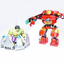 7110 Compatible With Marvel Super Heroes 76031 Avengers Building Blocks Ultron Figures Iron Man Hulk Buster Bricks Toys marvel super heroes avengers building blocks ultron figures iron man toys for children dbp423